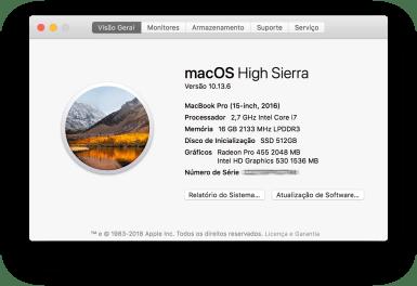 Sobre o MacBook Pro