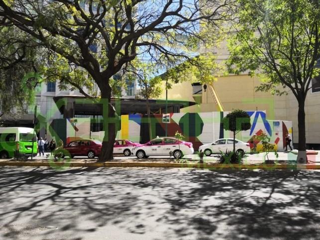 Construção da nova loja da Apple na Cidade do México