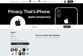 Página da Apple no Twitter