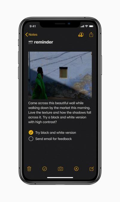 Notas do iOS 13