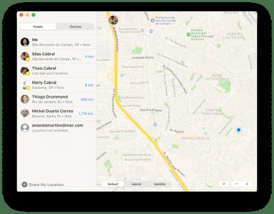 Novo app Buscar no macOS Catalina