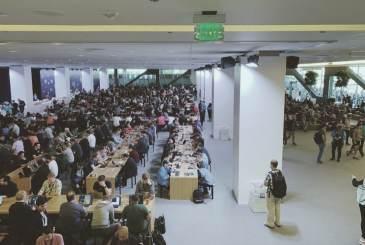 Saguão onde os developers se reunem para almoçar e programar