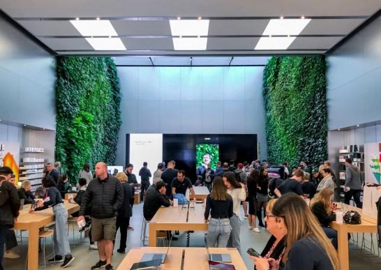Parede verde na Apple Bondi