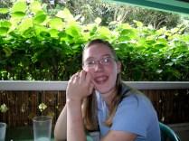 Sarah at the Aloha Café
