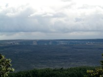 The View of the Halema'uma'u Crater from the Volcano House