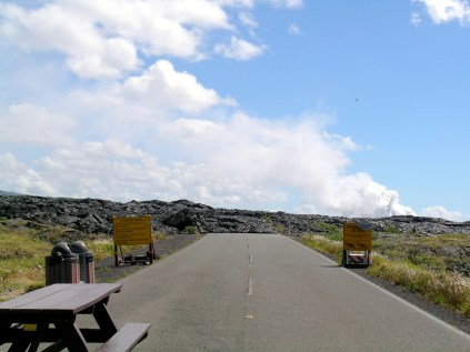 This Road was Blocked by the Present-Day Lava Flow