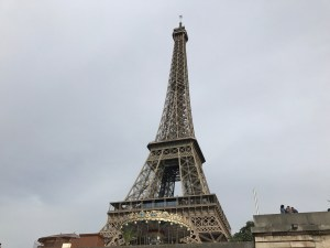 eiffel tower with carousel