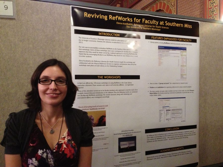 Reviving RefWorks for faculty at Southern Miss poster