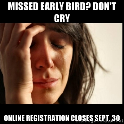 Online registration closes Sept. 30