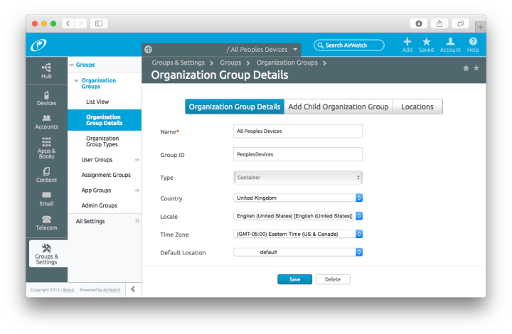 How To Get The LocationGroupId For An Organisation Group For