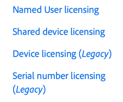 Adobe Shared Device Licensing   macmule