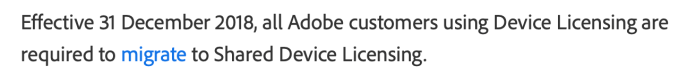 Adobe Shared Device Licensing | macmule