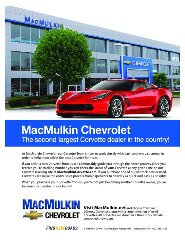 MacMulkin Chevrolet Corvette is the 2nd Largest Corvette Dealer in the Country!