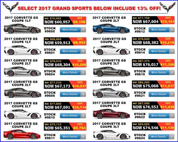 2017 Corvette Grand Sport Sale