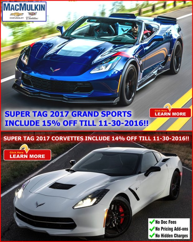 2017 Corvette Super Tag Sale