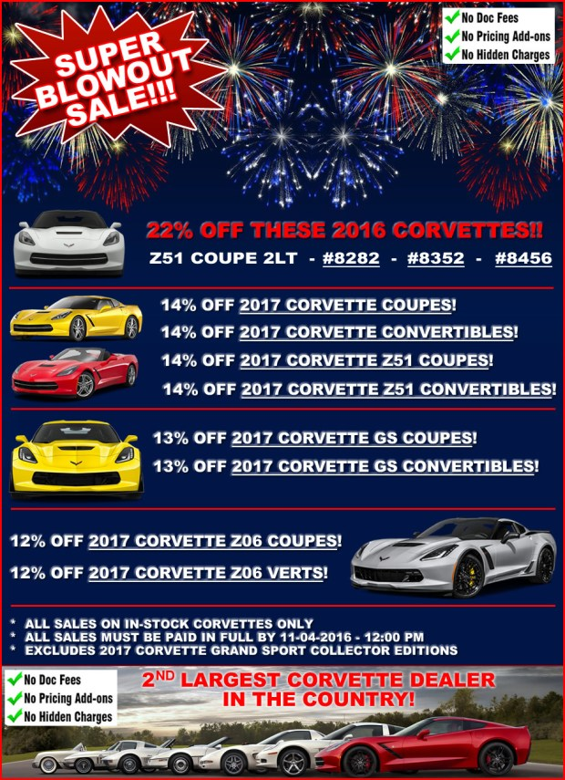 Corvette Inventory Blowout Sale