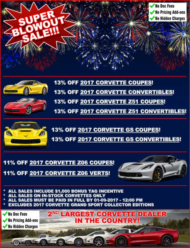 2017 Corvette Incentives