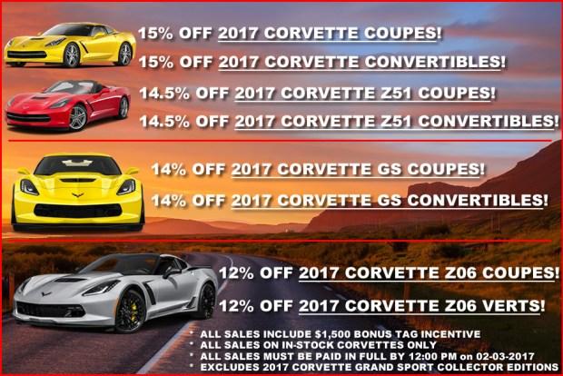 February 2017 Corvette Discounts - MacMulkin Corvette