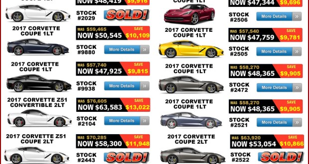 17 percent off select 2017 Corvette Grand Sports