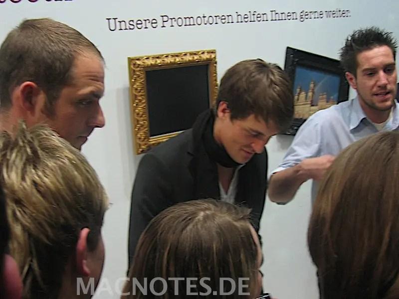 Alexander Klaws auf der CeBit 2008