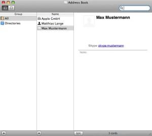 Skype-Kontakte im Adressbuch