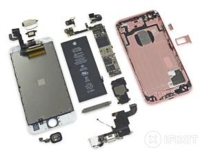 iPhone 6s auseinander gebaut