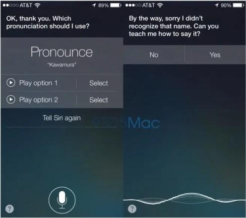 Siri fragt nach der richtigen Aussprache