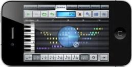 Music Studio: Pianorolle am iPhone