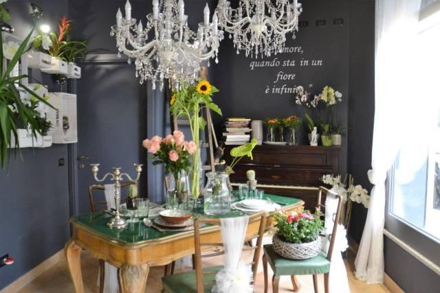 Uno scorcio del nuovo negozio di fiori di Fabrizio Ghiroldi