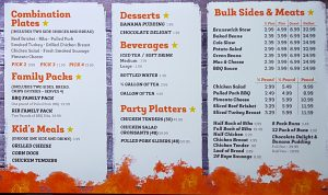 Georgia Bob's Menu Part 2