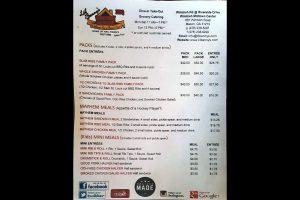 Li'l Benny's Smokehouse menu page 2