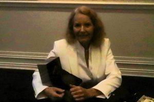 Ellen Gilchrist accepting the Sidney Lanier Prize