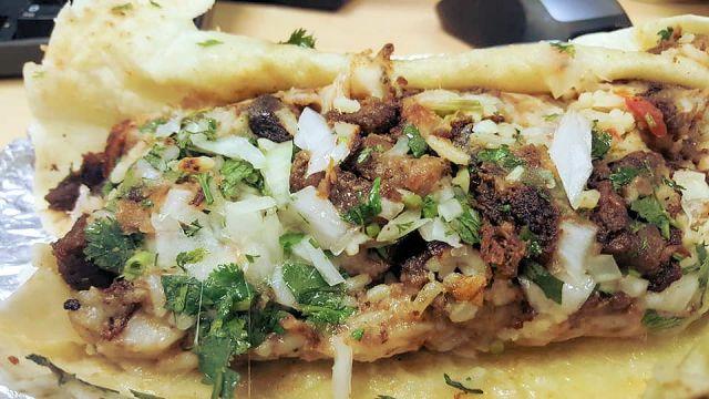 La Delicia Steak Burrito