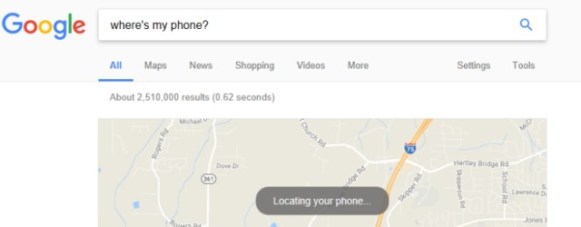 Google Find Your Phone - Search