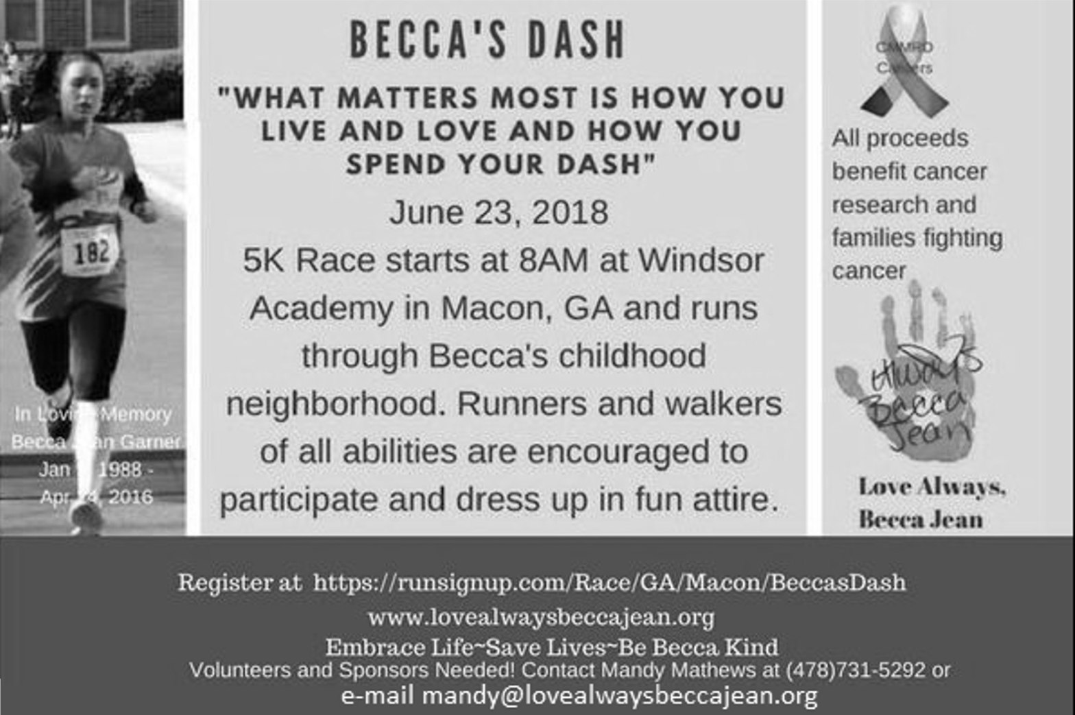 Becca's Dash Ad