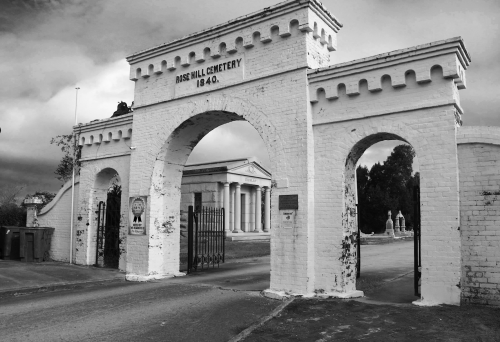 Rose Hill BW Entrance