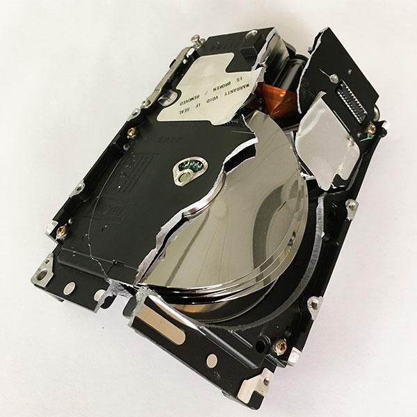 bent hard drive