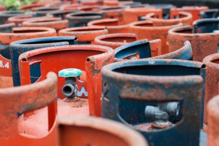 Rusty Propane Tanks
