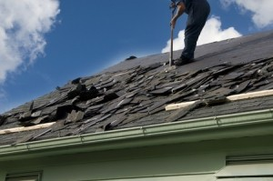 removing shingles from a roof