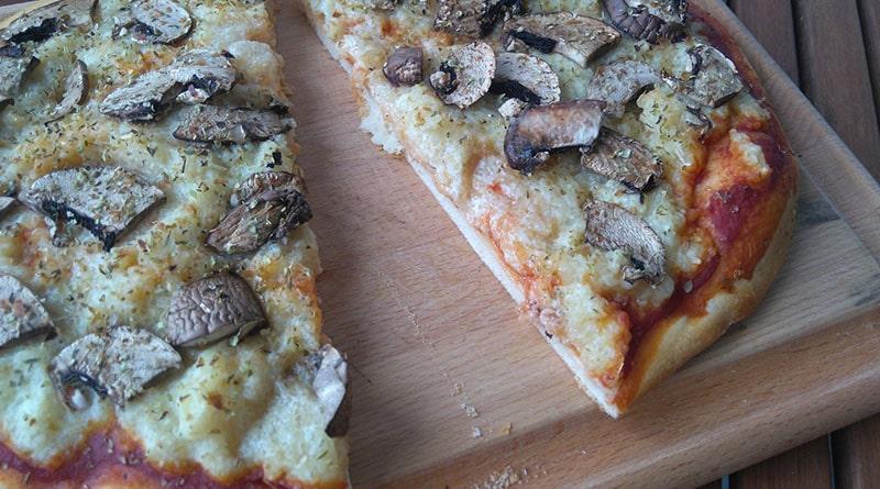 pizza vegane champignons fromage