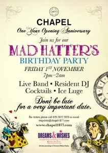 !st Birthday Party for Chapel 1877 Bar
