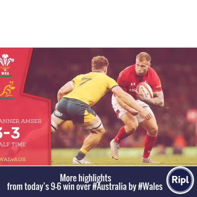 Wales beat Australia 9-6 to end the 13 game and 10 year losing streak…