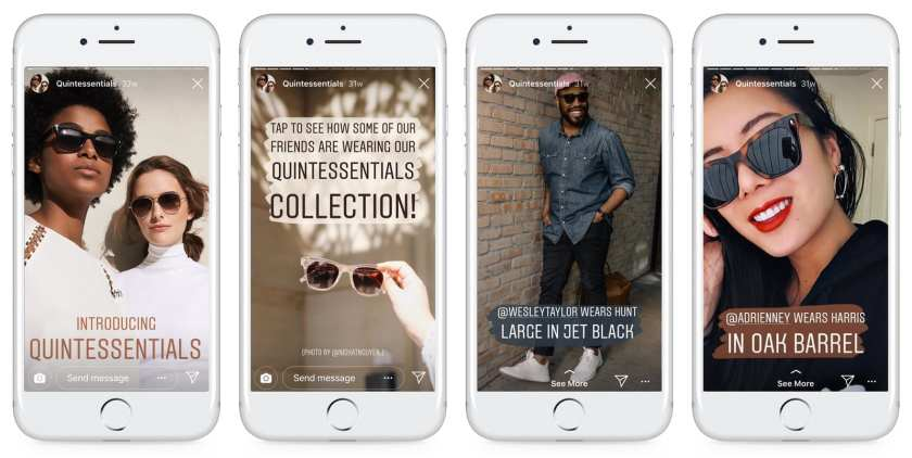 Warby Parker Instagram Stories Example