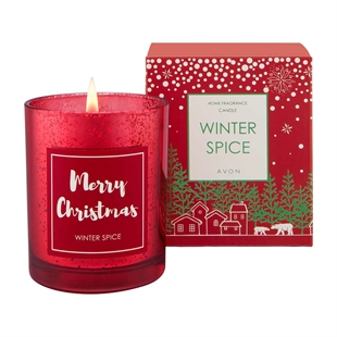 Winter Spice Merry Christmas Candle