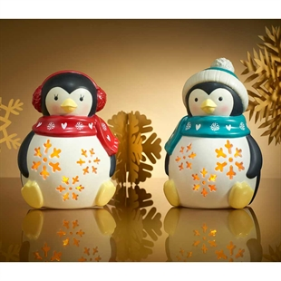 Ceramic Light-Up Penguins