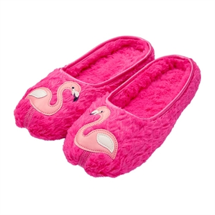 Dream More Flamingo Slippers