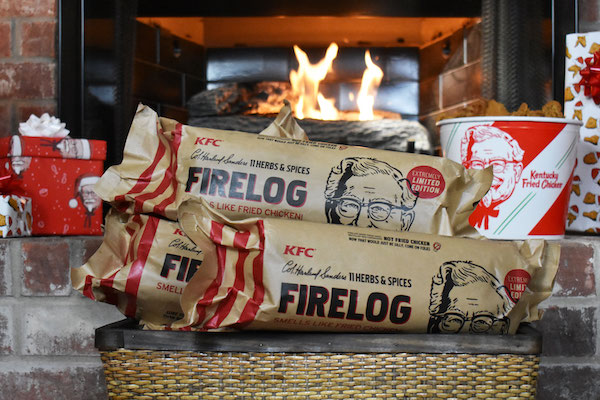 KFC Debuts 'Fried Chicken'-Scented Firelogs To Crisp Up Your Holiday Gatherings