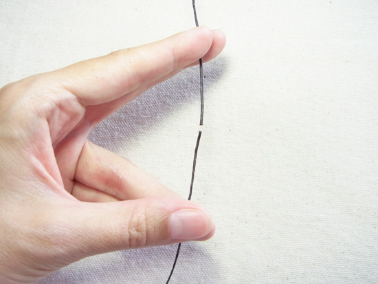 紐の持ち方