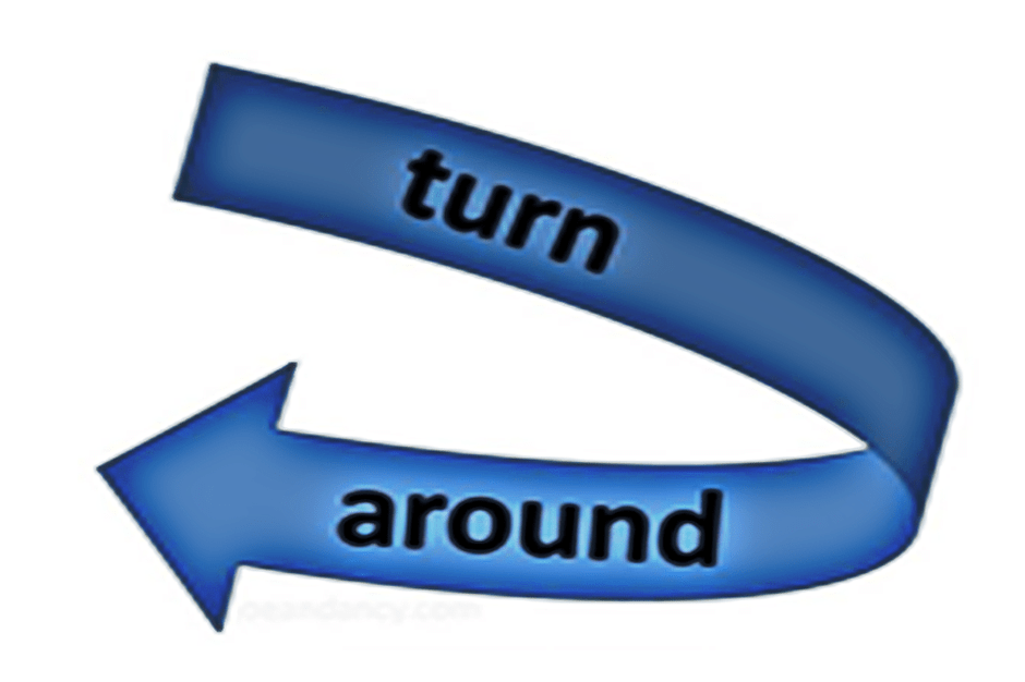Image result for turn around