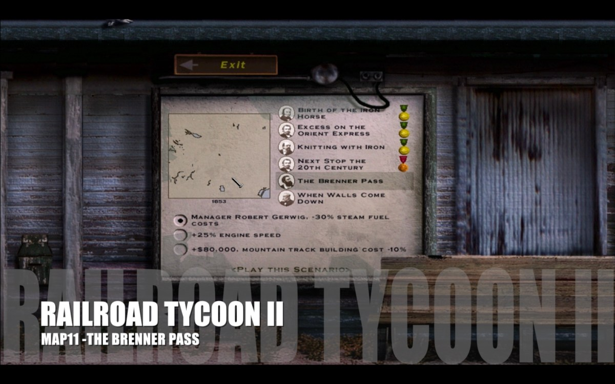 Railroad Tycoon II - Map 11 - The Brenner Pass